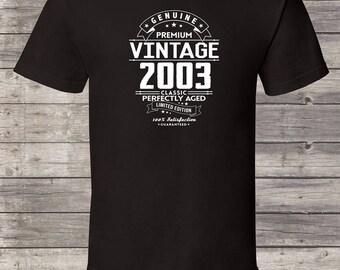 Genuine Premium Vintage since 2003, 14th birthday gifts for women, 14th birthday gift, 14th birthday tshirt, gift for 14th Birthday for Men