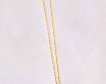 Gold-filled necklace with quartz crystal drop-shaped pendant