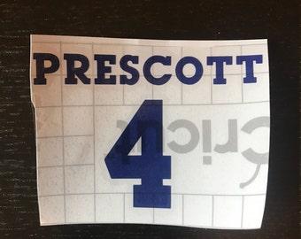 Dallas Cowboy Dak Prescott Decal