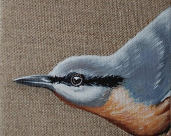 Original Bird Painting, Nuthatch (2017)