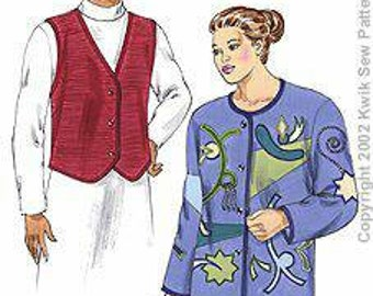 Kwik Sew  3147 Ladies Plus Vest and Jacket pattern  1x -4x.  New in Envelope