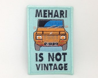 Mehari iron on patch
