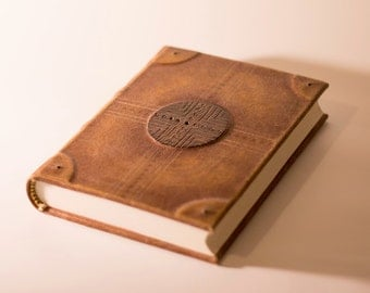 Leather Journal Large Blank Book Diary