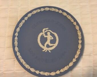 Wedgwood Blue 1984 Olympics commemorative plate