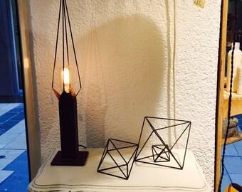geometric icosahedron icosahedron table lamp light minimalis