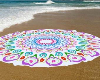 High quality Roundie Cotton Beach towel, Yoga roundie mat, meditation roundie mat, Roundie beach spread