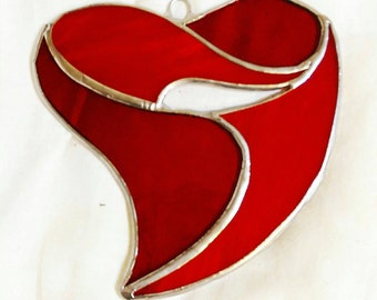 Valentine's Day Stained Glass Heart
