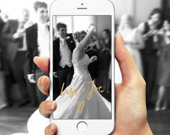 Snapchat Filter for Your Wedding, Unique Hand Lettering, Snapchat Filter, Snapchat Design, Custom Snapchat, Custom Snap Chat, Snap Chat