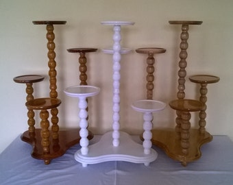 Wooden Plant Stand Etsy - Column pedestal plant stand