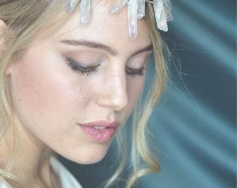 sparkling rock crystal headpiece / rock-crystal hair accessories / headpieces / festival headpiece / boho headpiece / wedding / bridal accessory