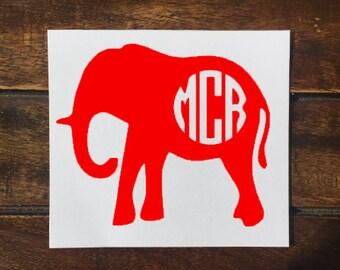 Elephant Gift Etsy - Elephant monogram car decal