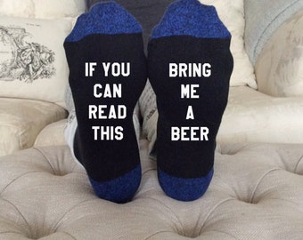 Custom Beer Socks   Gifts under 10   Fathers Day   Gifts for Men