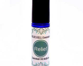 RELIEF -  for for head and neck tension / Essential Oil Roll-On Blend / 100% Pure Essential Oils in Coconut Oil Base