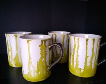 Watercolor Mugs -set of 4