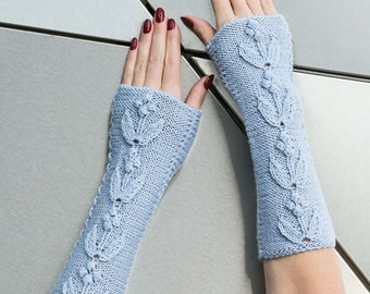 "FINGERLESS GLOVES   ""Milky way"""