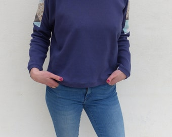 Sweater sweater woman TM - recycled fabrics - unique piece