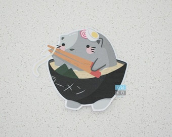 Ramen Cat Sticker