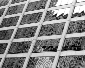Modern black and white architectural photography. Chicago print #12