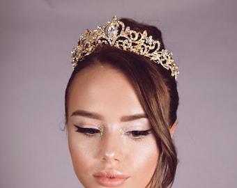 Heart Swarovski crystal bridal tiara prom wedding pageant tiara crown crystals rhinestones luxury stunning