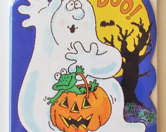 "Halloween Hallmark Cards ""BOO!"" Happy Haunting To You Greeting Cards - 6 cards/envelopes"
