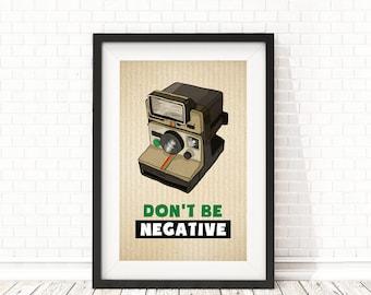 Polaroid print, Inspirational print, Retro camera Print, Quote for photographers, Gift for photographers, PRINTABLE Quote, Camera art decor