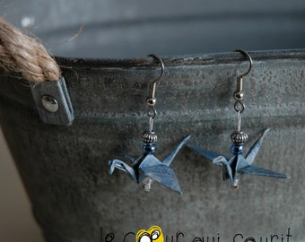 (Crane) - G013 origami earrings