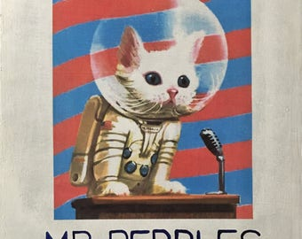 "Fallout 4 - Mr. Pebbles, First Cat in Space. Wall Art. 12""x12"" Wood Mounted Acrylic ""Poster"""