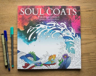 Beautiful Adult Coloring Book | Soul Coats: Restoration - Unique Illustrations of the Bible