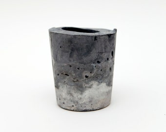Grey and White Concrete Planter