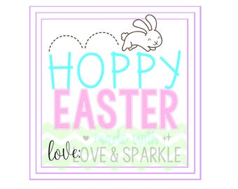 Easter Tags - Easter Gift Tags - Easter Printable Tags – Hoppy Easter - Instant Download - Digital Easter – Bunny Tags- Easter Bunny Digital
