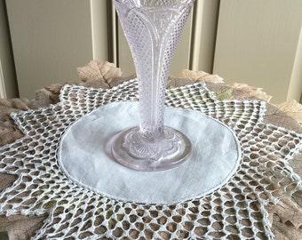Vintage Pressed Glass Trumpet Vase
