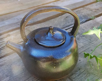 Temoku teapot inspired by Japanese