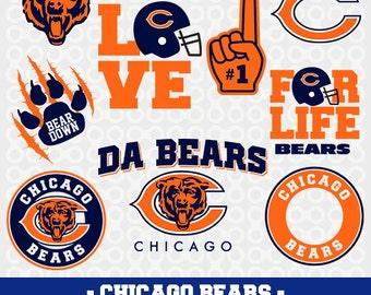 Chicago Bears Svg, Chicago Bears Silhouette, Chicago Bears Cricut Files, Svg Cameo, Chicago Bears DXF, Chicago Bears Football Team, SVG-14
