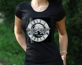 Guns n Roses Tshirt Guns N Roses Tee Gift Rock Tshirt Guns n Roses rock Tshirt  gun n rose Slash shirt Women's T-shirt Axl Rose shirt