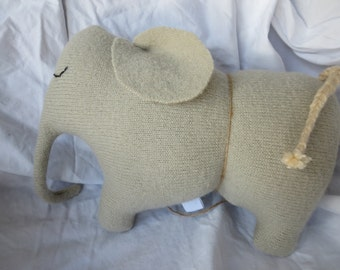 toy elephant wool baby gift pillow plush