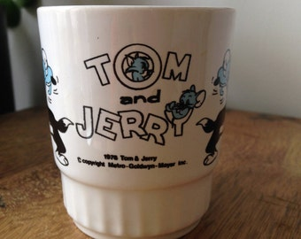 Retro Vintage 1976 Tom and Jerry kids cup Metro-Goldwyn-Mayer Inc