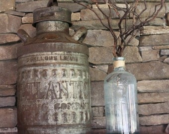 Atlantic Refining Oil Company can/Antique oil/gas can/Vintage industrial/Petroliana