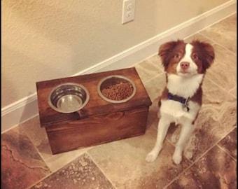 Pet Food Holder and Storage Bin