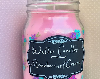 Candle in a Jar- Strawberries & Cream