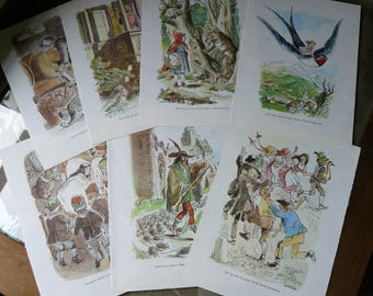 Fairy Tale Plates, Drawings, 5pcs, Decoupage, Craft, Scrapbooking, Papercraft, Card Making, Materials, Paper