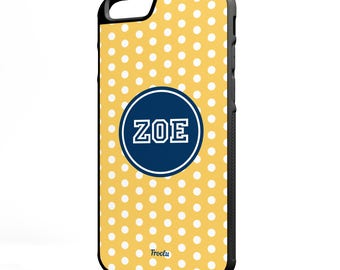 iPhone 7 Cases - 7 Plus Polka Case - Best iPhone 7 Case - iPhone 6S Case - Rubber iPhone Case - Custom iPhone 7 Case - Polka Dot Pattern