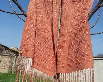 Copper Woven Cotton Scarf