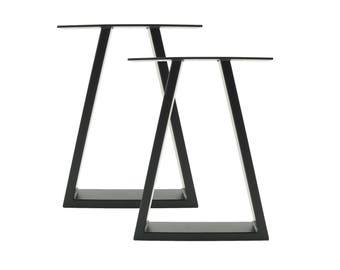 "Bold Trapezium Industrial Metal Bench Legs - 40cm (16"")"