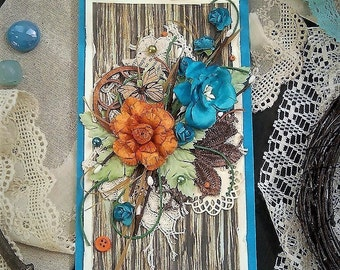 Postcard, cards, flowers, summer flowers, congratulations, specifical for her, card