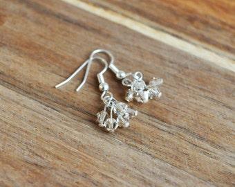 Swarovski Crystal Cluster Dangle Earrings