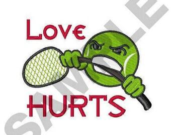 Tennis Love - Machine Embroidery Design