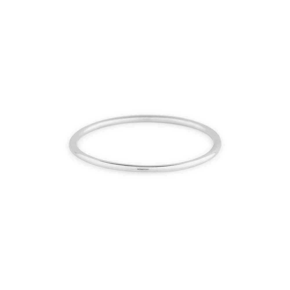 Wedding Band - 14k White Gold Ring - Gold Wedding Rings also used as Stacking Rings 1.0MM - Thin Wedding Band available as Rose Gold Ring