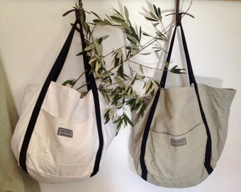 Bags Tote in flax - Boer - Made in France