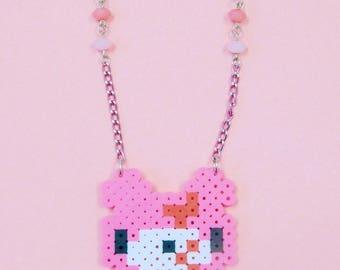 Guro Pixel Gloomy Bear Necklace