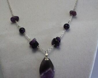 Amethyst teardrop necklace